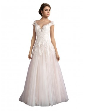 Ivory & Champagne Long Cathedral Train A-Line Mariana Wedding Dress Queensland